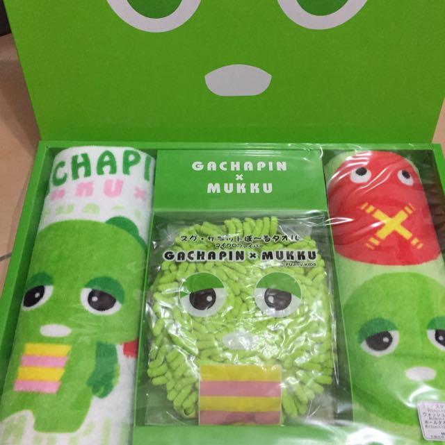 GACHAPINxMUKKU毛巾組