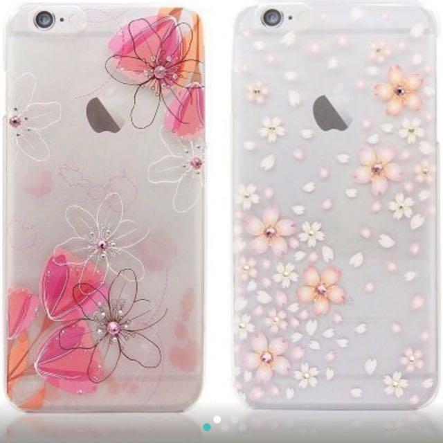 iPhone 6 Plus 5.5吋 施華洛世奇水鑽手機殼 櫻花款🌸