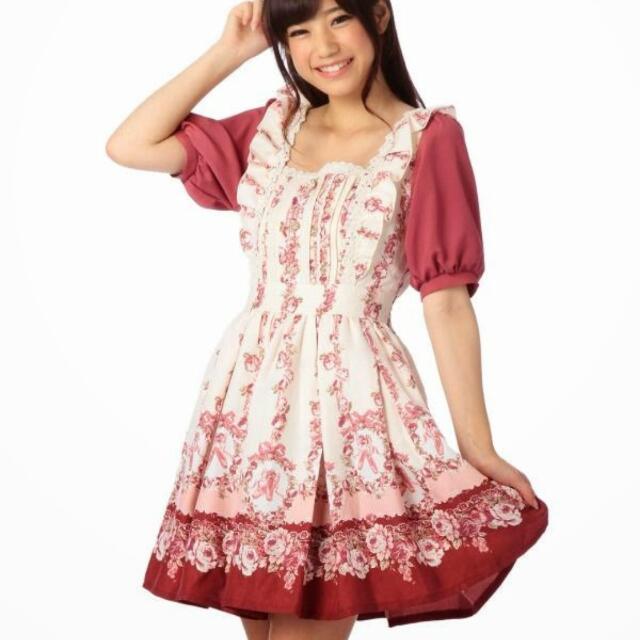 Liz Lias芭蕾柄 短袖洋裝 原單