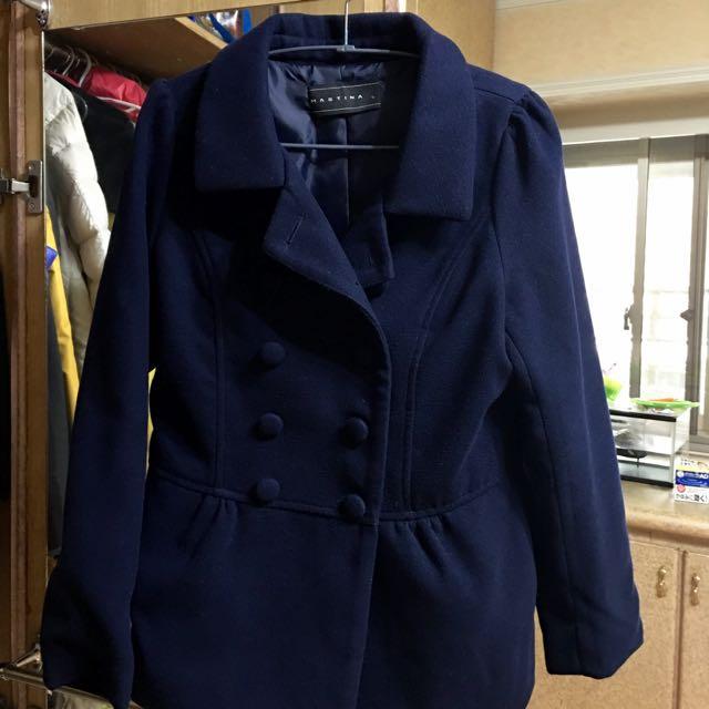 MASTINA 藍色短大衣 L