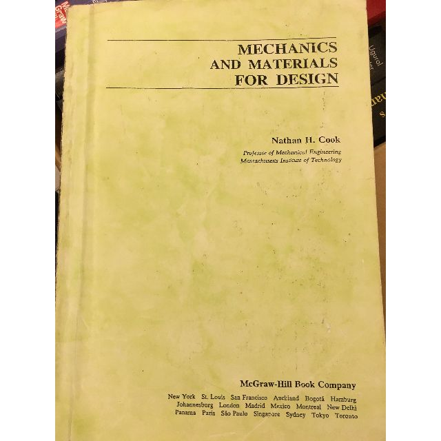 MECHANICS AND MATERIALS FOR DESIGN
