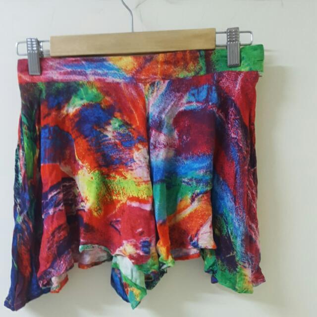 Paper Heart Flowy Shorts