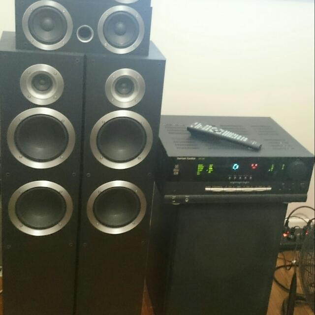 Pioneer 5.1 Home Theatre System 200W Rms Powered Sub
