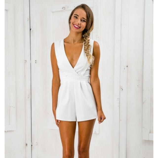 Reached Out Panelled Bust Playsuit