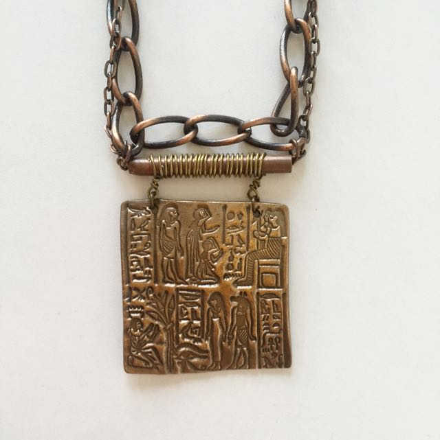 Rustic Egyptian Inscription Necklace