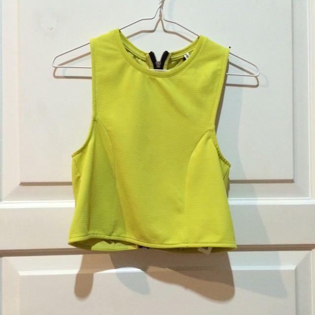 Stradivarius Yellow Lime Top