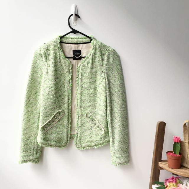 Zara Trafuluc Tweed Jacket