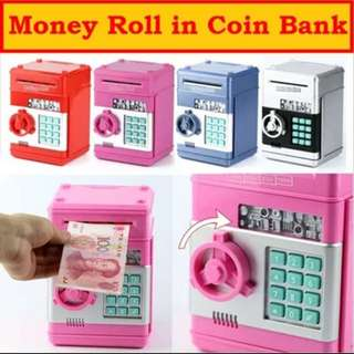Coin Bank / Mini Safe Box With Password To Unlock!