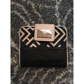 River Island Black And White Geometric Wallet