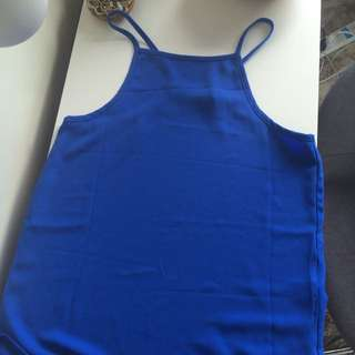 Mink Pink Cobalt Blue Top