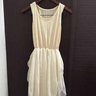 雪紡拼接洋裝
