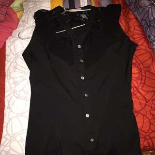 Black Lacy Top Size L-XL