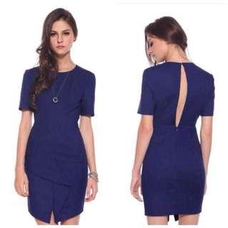 Love Bonito LB | Odaliz Origami Dress S, Navy Blue
