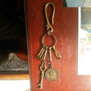古銅鑰匙掛飾