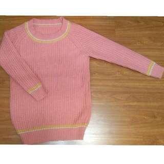 粉色微長版毛衣🍓