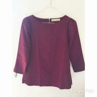 Dark Red Blouse