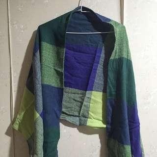藍綠色圍巾