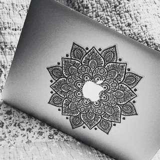 [Instocks CHEAP] Black Mandala #1 Apple Macbook Decal Sticker Vinyl
