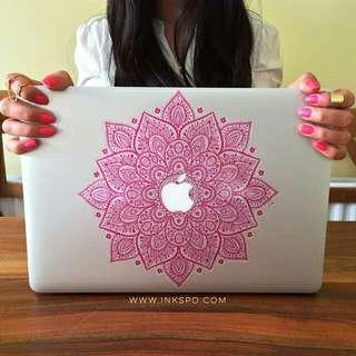 [Instocks CHEAP] Hot Pink Mandala Apple Macbook Decal Sticker Vinyl