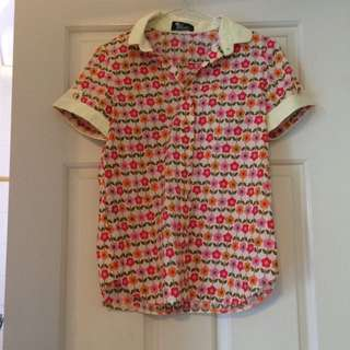 🌈 Elise Flower Shirt (Size 8)
