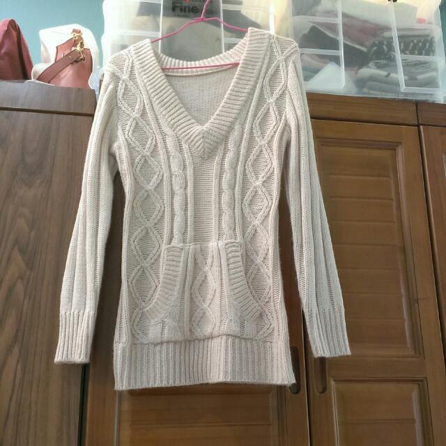 100(含運)粗針織毛衣