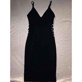LUCY IN THE SKY BLACK BODYCON DRESS