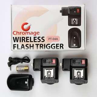 Wireless Flash Trigger Set (1 Transmitter & 2 Receivers) [Canon, Nikon, Olympus, Pentax]