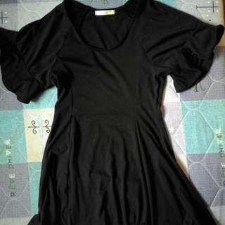 立體小花袖 超級無敵瘦 洋裝