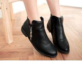 側拉鍊短靴(35號)