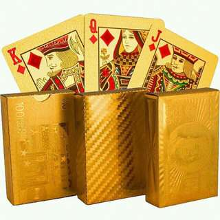 HAPPY CNY SALE! Gold Plated Poker Cards ♠️♥️♣️♦️
