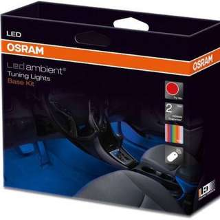OSRAM 16 Colors Wireless LED Ambient Tuning Room Light Base Kit [LEDINT201] (Plug and Play, No Wire Cut, No Warranty Void, New Cars also can install, 100% DIY Product, can own self install)