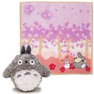 日本 龍貓盒裝毛巾+絨毛娃娃