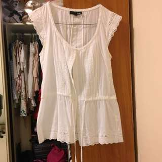 Ladakh White Lace Top