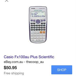 Casio fx100au plus scientific calculator