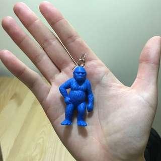 猩猩/狒狒/猴子藍色耳環