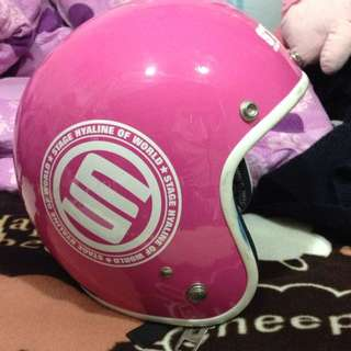 Stage 粉紅色 復古 安全帽