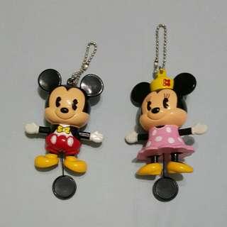 Mickey And Minnie Key Chains.
