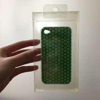 iPhone 4手機殼/綠色蜂窩狀