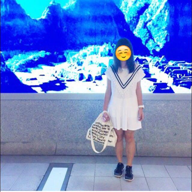 可愛連身學院風の白裙