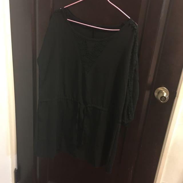 黑色蕾絲洋裝(二手)