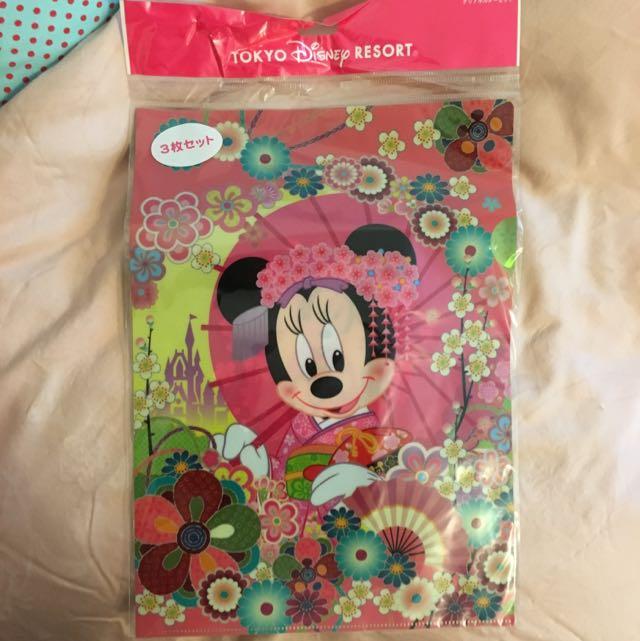 東京迪士尼米妮資料夾
