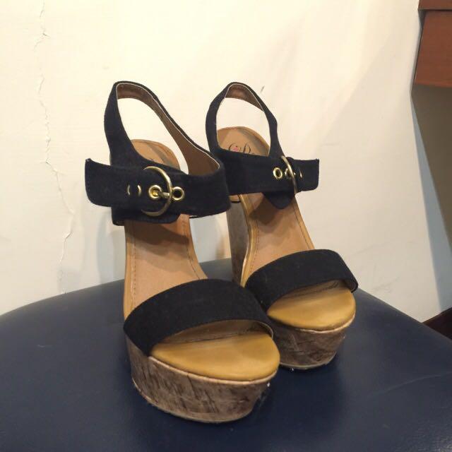 黑色好搭楔型跟鞋 8號
