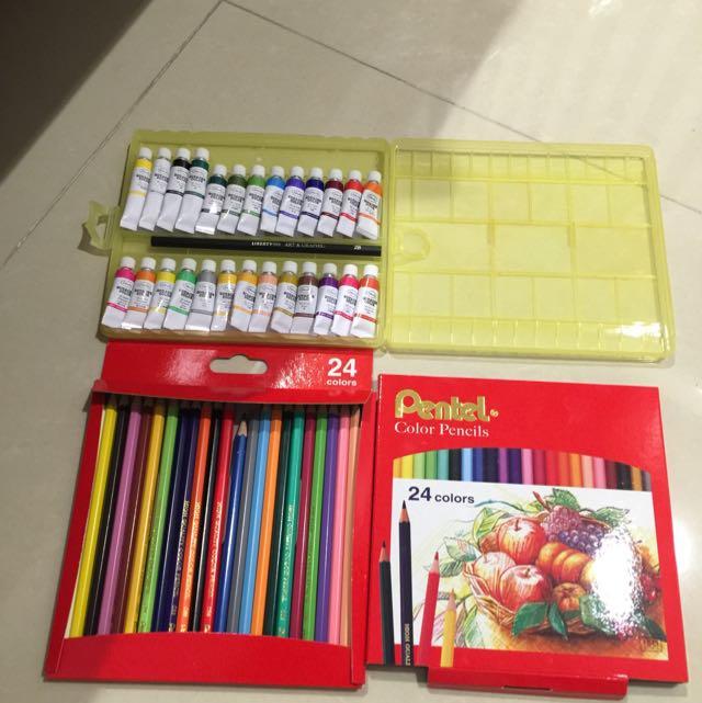 彩色鉛筆&水彩 用過ㄧ些