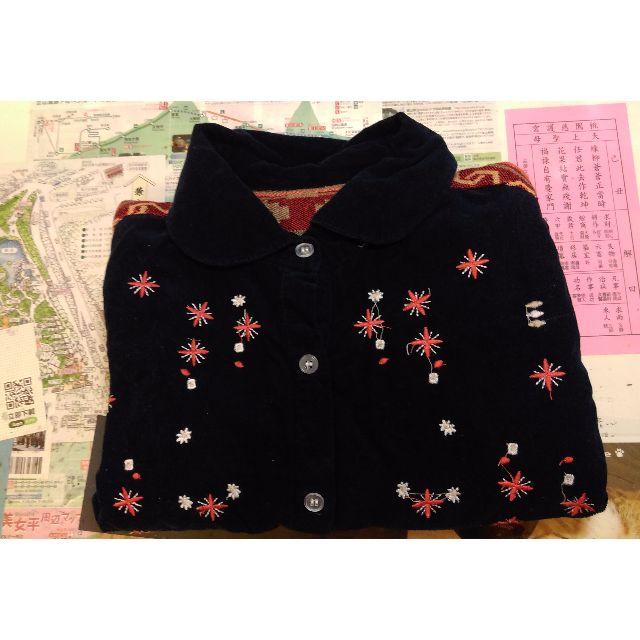 二手 森林系絨布襯衫