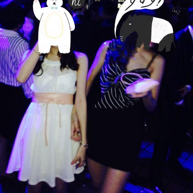 白色 小洋裝 禮服 成發服 舞會