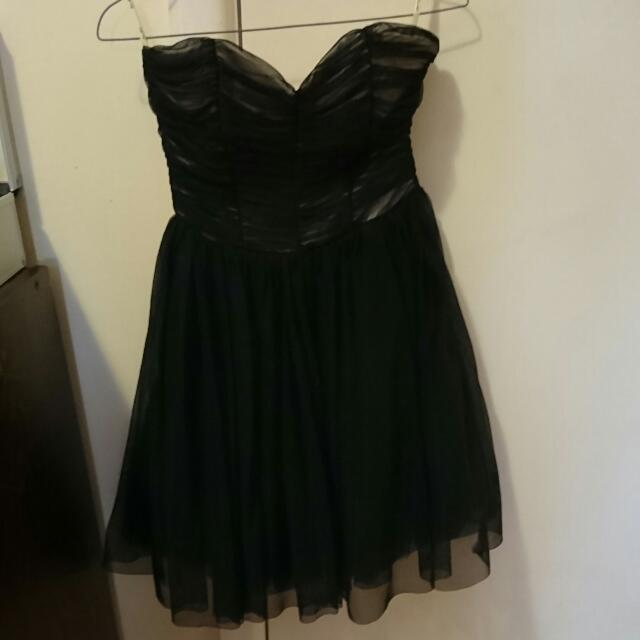 Black Bardot Tutu Dress (size 10)