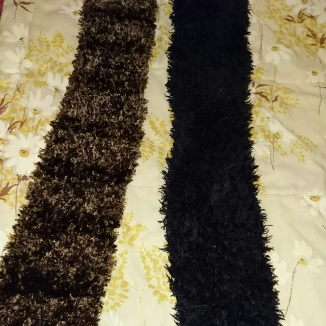 Chocolate Brown Fluffy Scarf