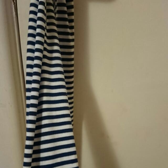 Cotton On Blue And White Striped Scarf