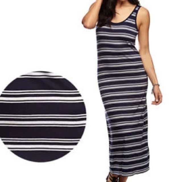 Cotton On Stripe Long Dress