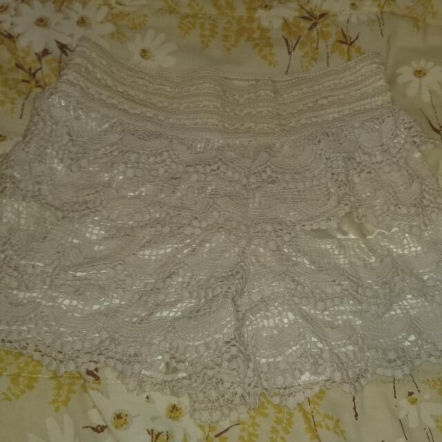 Cream Hippie Shorts (small)